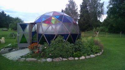 eine neue Gartenhütte muss her ... ein geodätischer Dom