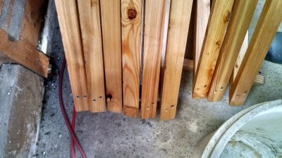Holz ist da ... die Dreiecke kommen